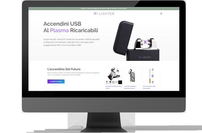 realizzazione sito web accendiniusb
